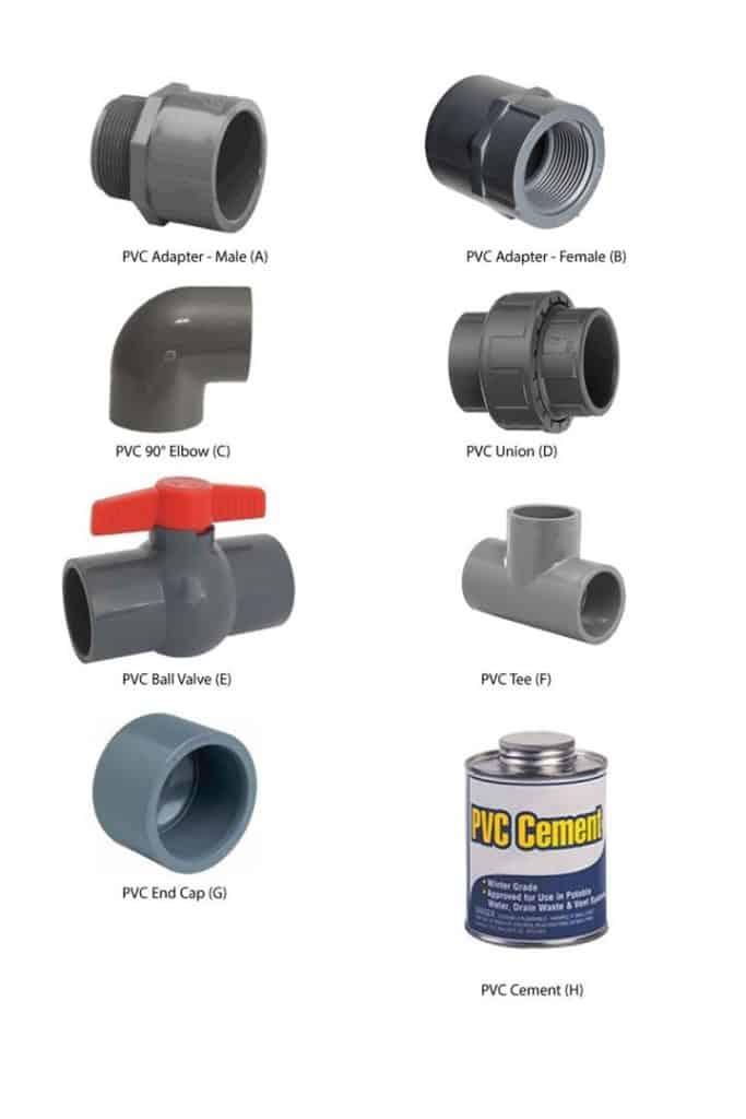 Common PVC Fittings