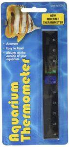 LCR Hallcrest Liquid Crystal Vertical Aquarium Thermometer