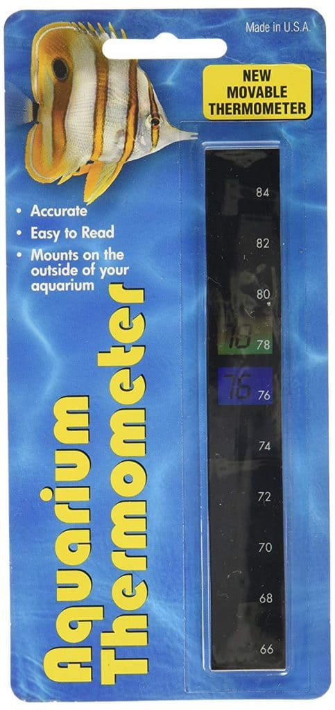 LCR Hallcrest Liquid Crystal Vertical Aquarium Thermometer