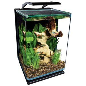 MarineLand Potrait Glass LED Aquarium Kit