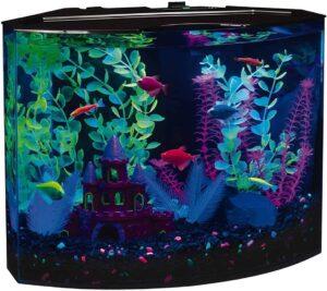 GloFish Aquarium Kit Fish Tank with LED Lighting and Filtration Included