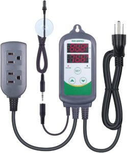 Inkbird ITC308S Temperature Controller for Aquarium with Submersible Probe Heating Cooling Outlets Thermostat for Heater and Cooling Fans
