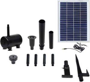 Sunnydaze Solar Water Pump and Panel Bird Bath Fountain Kit